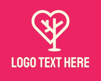 Social Network - Tree Heart logo design