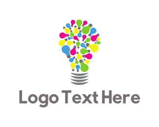 Answers - Colorful Lamp logo design