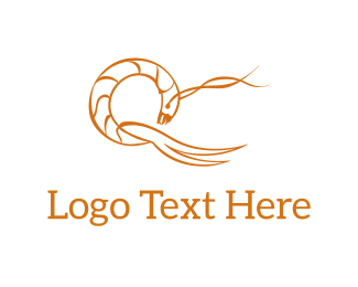 Shellfish - Abstract Prawn logo design