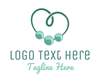 Pearl - Beads Heart logo design