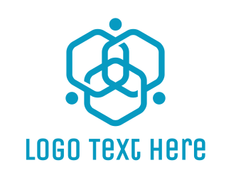 Business - Triple Hexagon Atom logo design