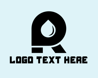 Gas Station - Oil Letter R logo design