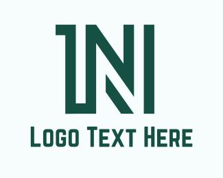 Number - 1N logo design