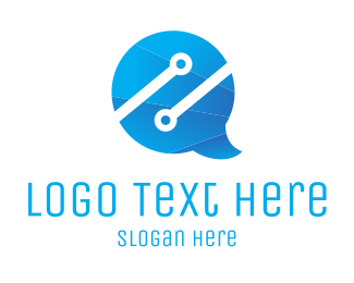 Speak - Chat Tech logo design