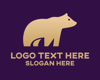 Bear - Cute Grizzly Bear logo design
