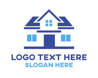 Developer - Simple Blue House logo design