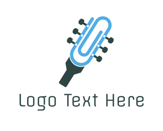 Office Supplies - Guitar Clip logo design