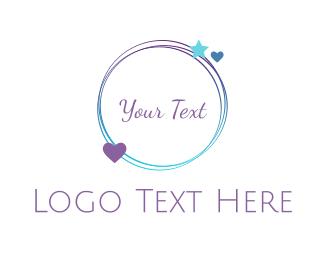 Lovely - Romantic Blue Circle logo design