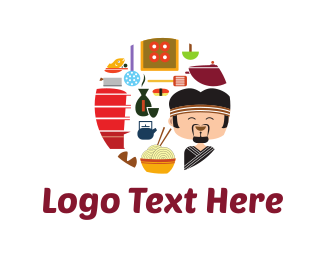 Japan - Sushi Chef logo design