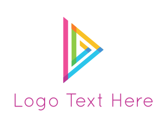 Interactive - Triangle & Play logo design
