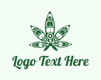 Medical Marijuana - Cannabis Art logo design