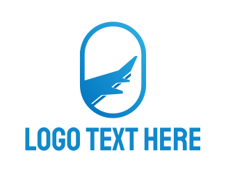 Airport - Blue Oval Travel logo design