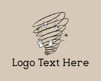 Paper Sheet - Writer Tornado logo design