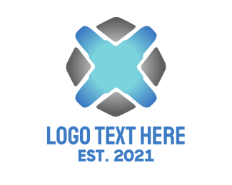 Business Software - Tech Letter X logo design