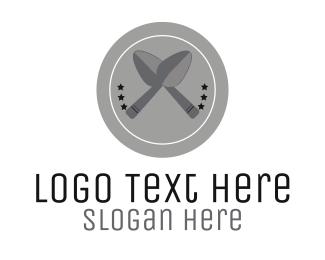 Plate - Silver Spoons logo design