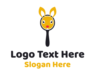 Magnifying Glass - Bunny Mirror logo design