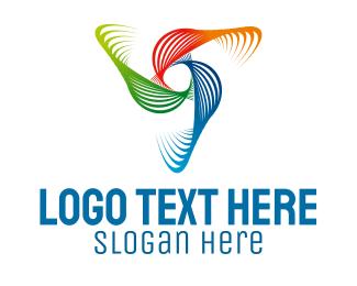 Curves - Colorful Waves logo design