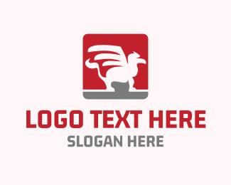 Mythology - Griffin Emblem logo design