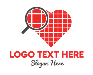 Magnifying Glass - Pixel Love logo design