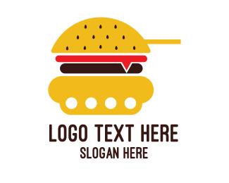 Cannon - Burger Tank logo design