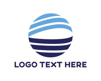 Stroke - Blue Globe Stroke logo design