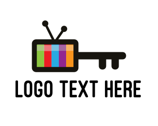Broadcast - Media Key logo design