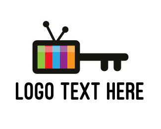 Channel - Media Key logo design