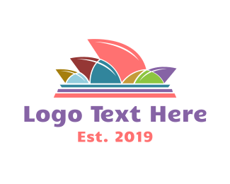 Tourist - Colorful Opera House logo design