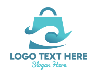 Shop - Wave Bag logo design