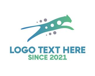 Cheetah - Gradient Tech Cat logo design