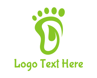 Vines - Leaf Foot Print  logo design