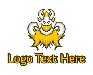 Tusk - Viking Monster logo design