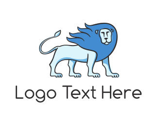 Star Sign - Blue Lion logo design