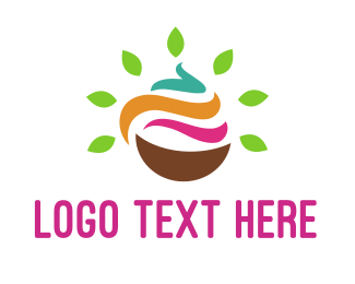 Cream - Natural Yogurt logo design