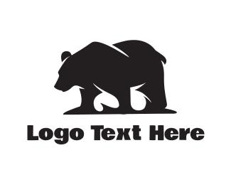 Teddy Bear - Wild Bear Silhouette logo design