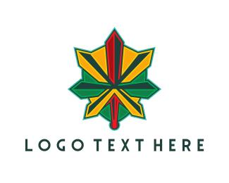 Drug - Medieval Weed logo design