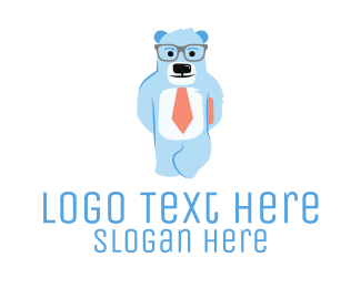 Bookkeeper - Nerdy Bear logo design