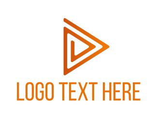 Vlog - Triangle Maze Play logo design