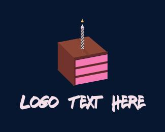 Candle - Square Cake logo design