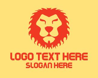 Lioness - Red Lion King logo design