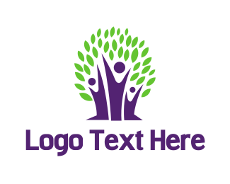 Parenthood - Purple Tree logo design