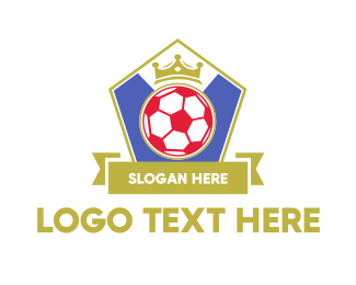 Football - King Soccer Emblem logo design