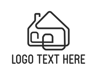 Tradesman - House Outline logo design