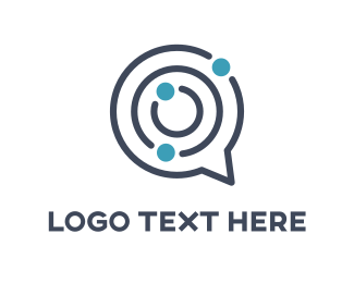 Talk - Maze Chat logo design