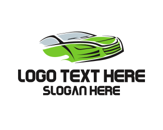 Racing - Green Car logo design