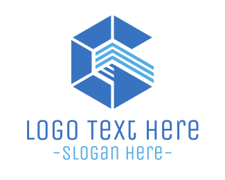 Business Consultant - Abstract Blue Hexagon logo design