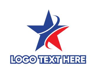 Australian - Blue & Red Star logo design