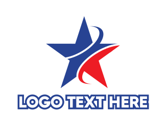 Political - Blue & Red Star logo design