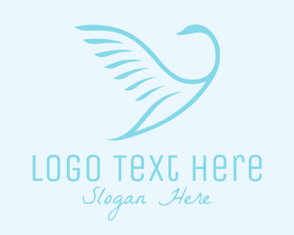 Freedom - Flying Bird logo design