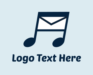 Post - Music Message logo design